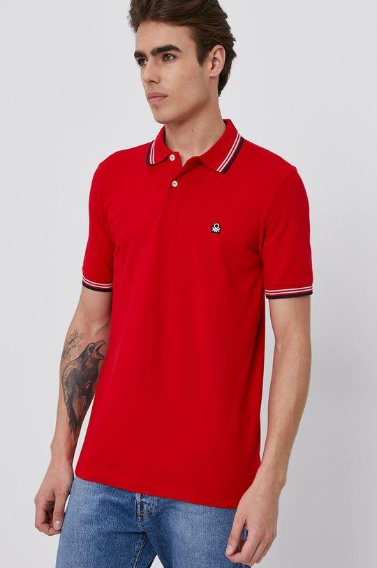 červená United Colors of Benetton - Polo tričko Pánský