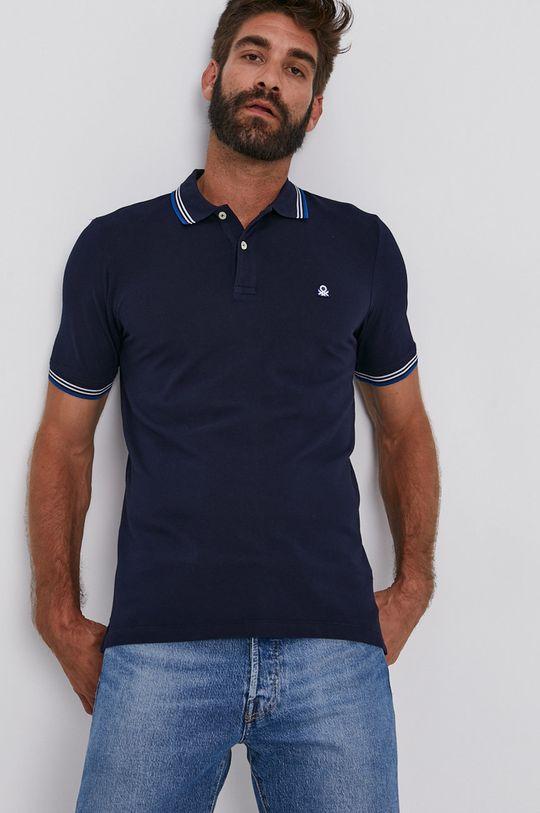 námořnická modř United Colors of Benetton - Polo tričko Pánský