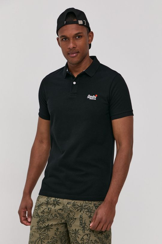 černá Superdry - Polo tričko