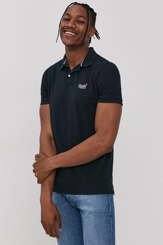 námořnická modř Superdry - Polo tričko Pánský