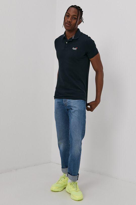 Superdry - Polo tričko námořnická modř