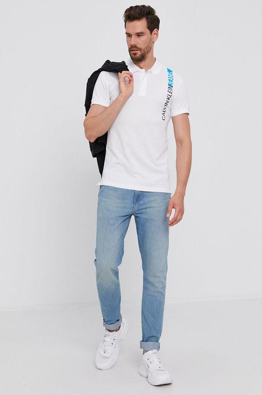 Calvin Klein Jeans - Polo tričko bílá