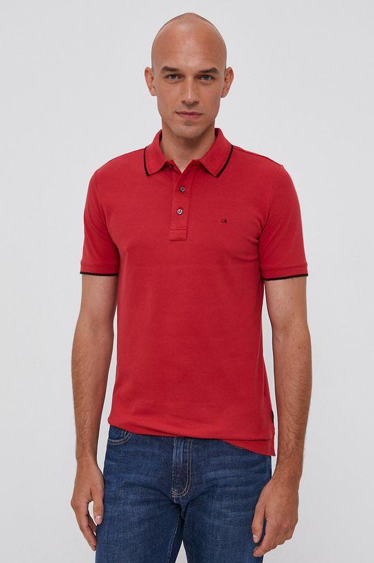 czerwony Calvin Klein - Polo Męski