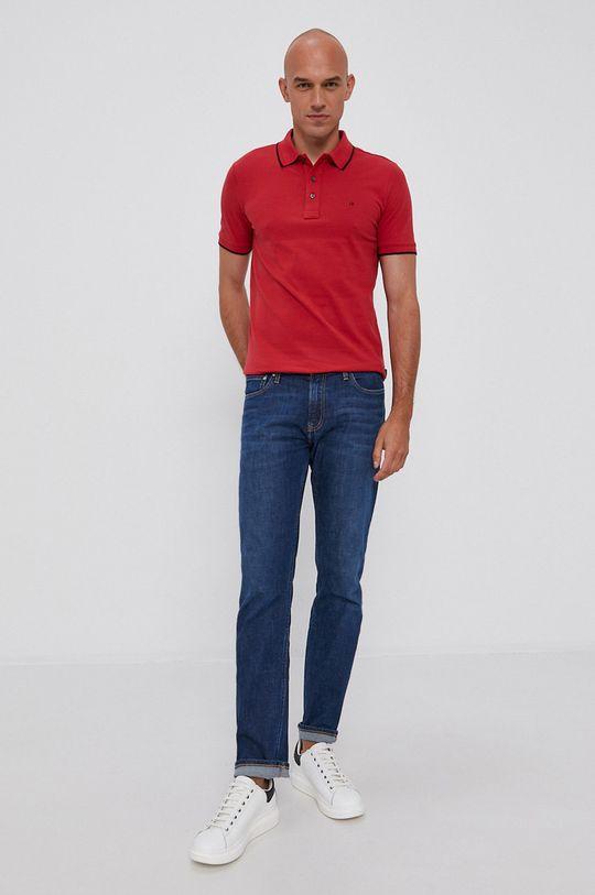 Calvin Klein - Polo czerwony