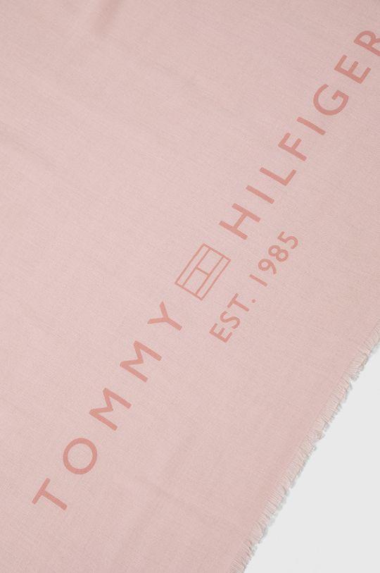 Tommy Hilfiger - Szal różowy