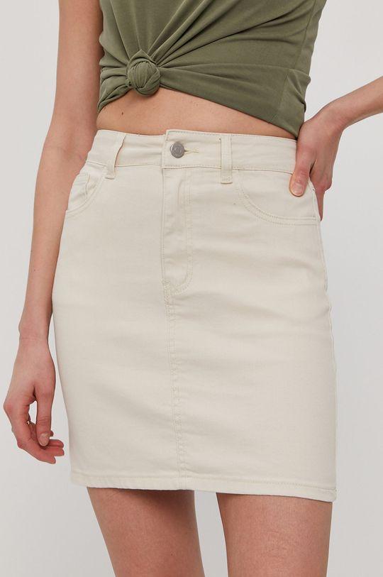kremowy Vila - Spódnica jeansowa Damski