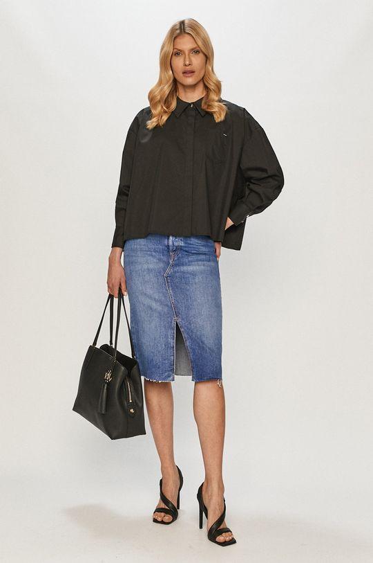 Guess - Spódnica jeansowa niebieski