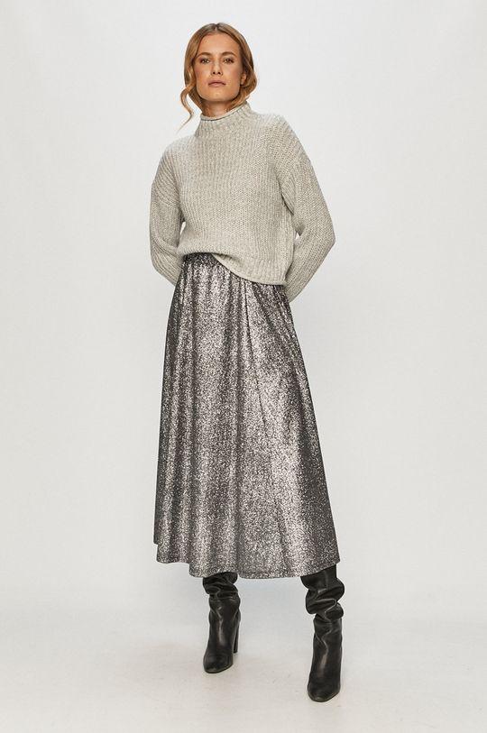 Only - Spódnica srebrny