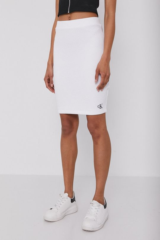biela Calvin Klein Jeans - Sukňa Dámsky