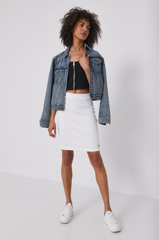 Calvin Klein Jeans - Sukňa biela
