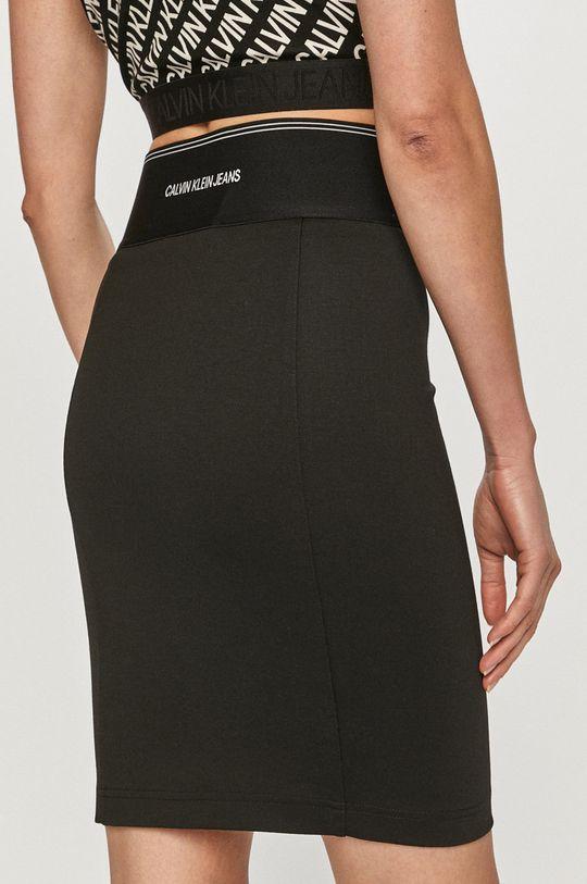 Calvin Klein Jeans - Fusta  4% Elastan, 77% Poliester , 19% Viscoza