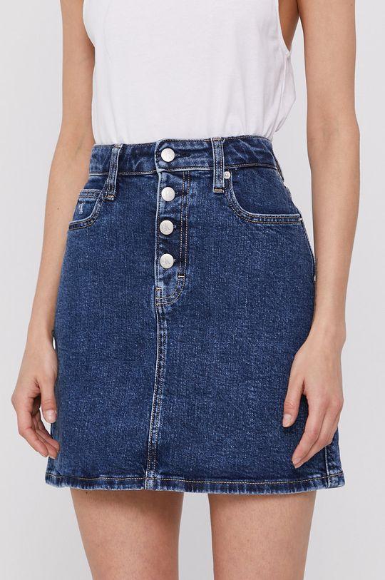 tmavomodrá Calvin Klein Jeans - Rifľová sukňa Dámsky