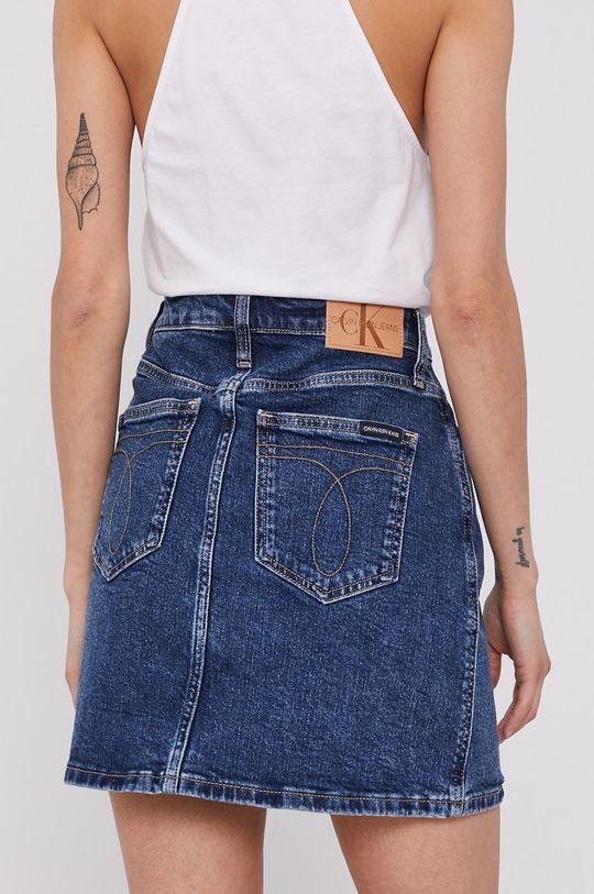 Calvin Klein Jeans - Rifľová sukňa  99% Bavlna, 1% Elastan