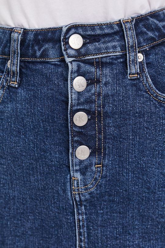 tmavomodrá Calvin Klein Jeans - Rifľová sukňa