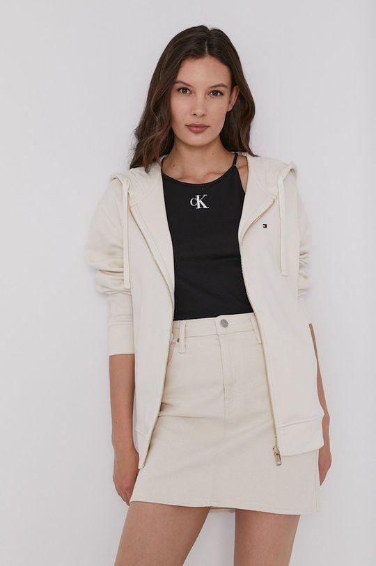 béžová Calvin Klein Jeans - Rifľová sukňa