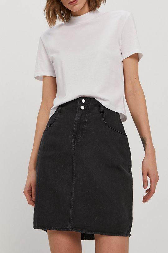 czarny Noisy May - Spódnica jeansowa Damski
