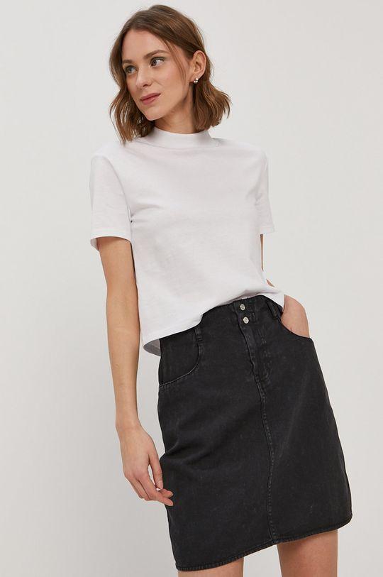 czarny Noisy May - Spódnica jeansowa