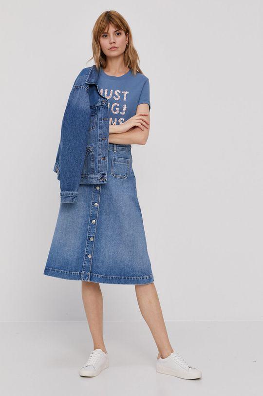 Pepe Jeans - Rifľová sukňa Annabelle modrá