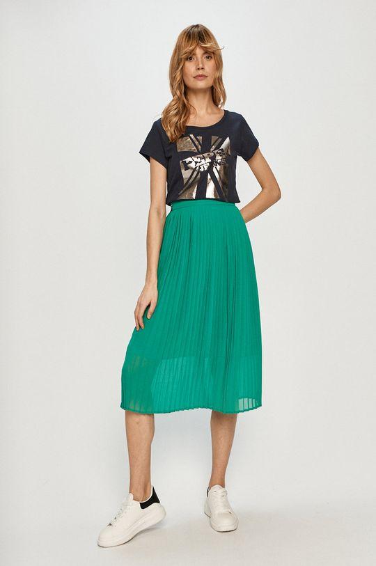 Pepe Jeans - Sukňa Lois tyrkysová modrá