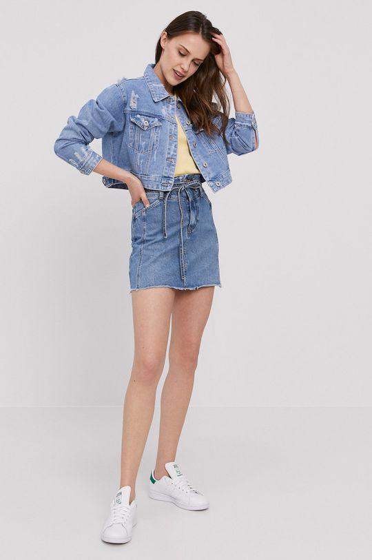 Pepe Jeans - Spódnica jeansowa Raisa niebieski