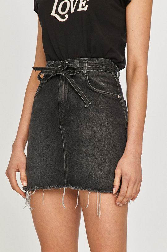 czarny Pepe Jeans - Spódnica jeansowa Rachel Damski