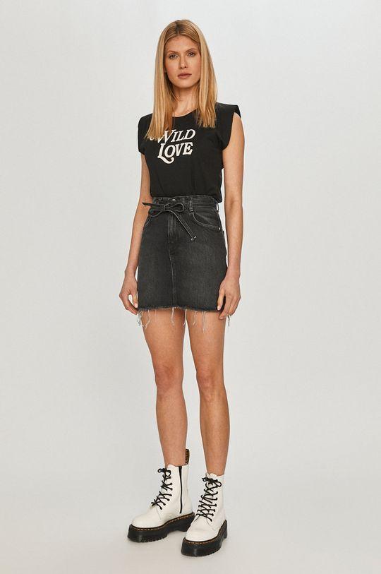 Pepe Jeans - Spódnica jeansowa Rachel czarny