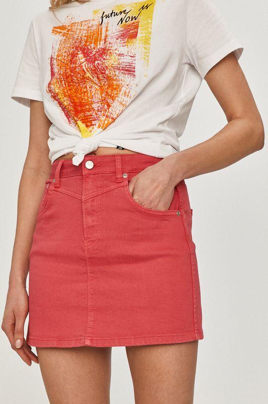 ostry różowy Pepe Jeans - Spódnica jeansowa Rachel Damski