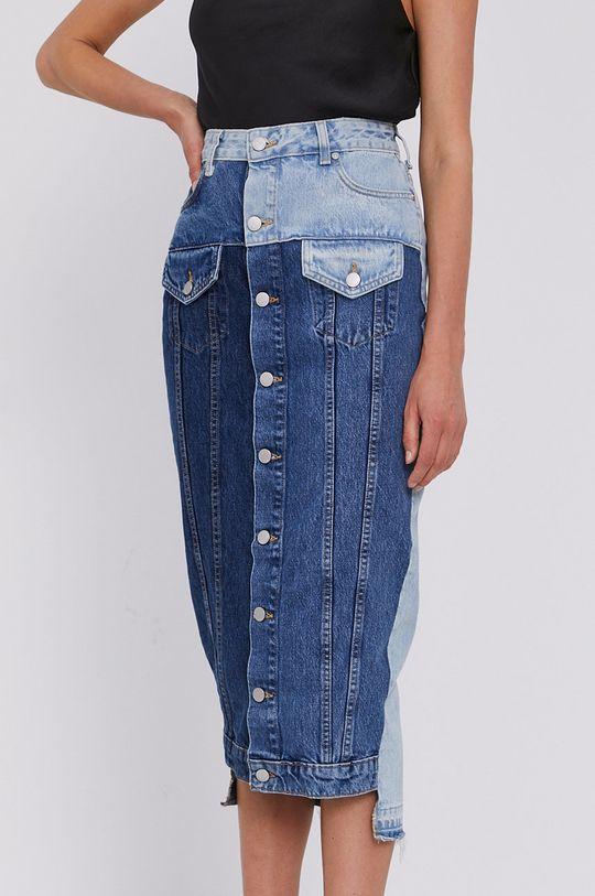 granatowy Red Valentino - Spódnica jeansowa Damski