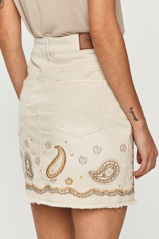 Desigual - Džínová sukně  97% Bavlna, 3% Elastan