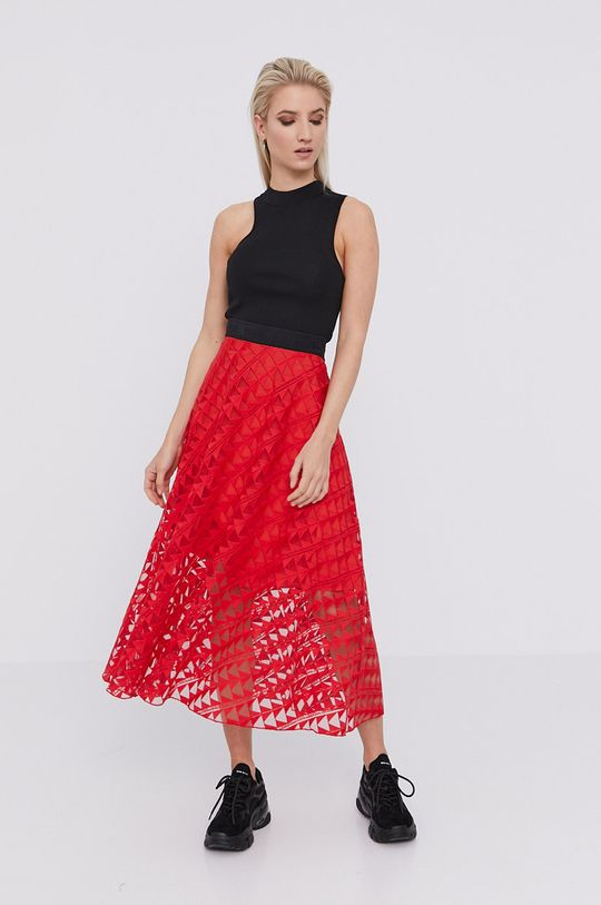Karl Lagerfeld - Sukňa červená