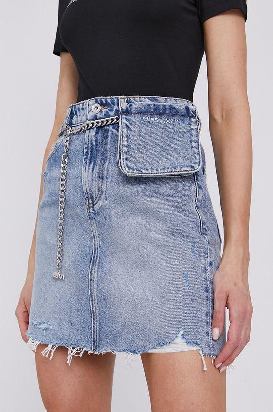 modrá Miss Sixty - Džínová sukně s kapsi%ckou Dámský