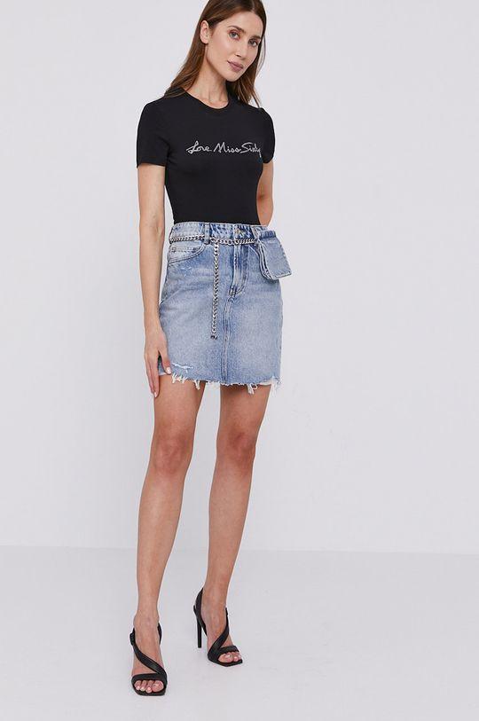 Miss Sixty - Džínová sukně s kapsi%ckou modrá