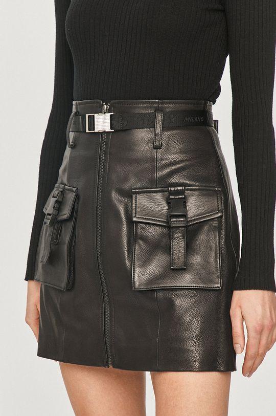 černá Miss Sixty - Kožená sukně Dámský