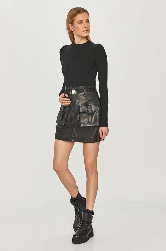 Miss Sixty - Kožená sukně černá
