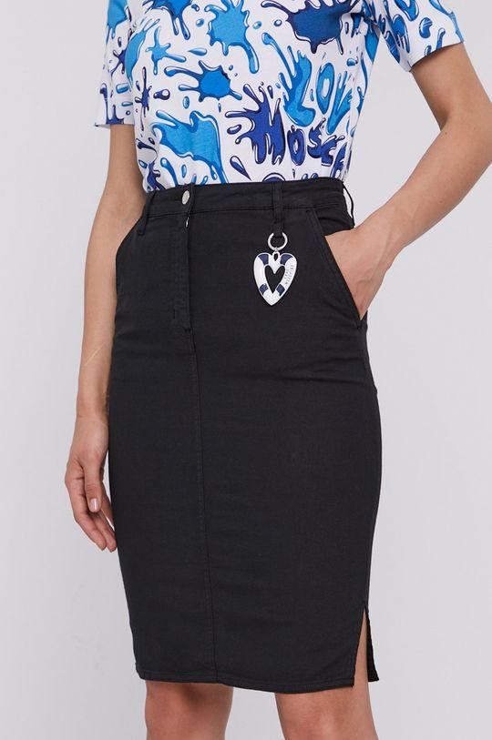 czarny Love Moschino - Spódnica jeansowa Damski