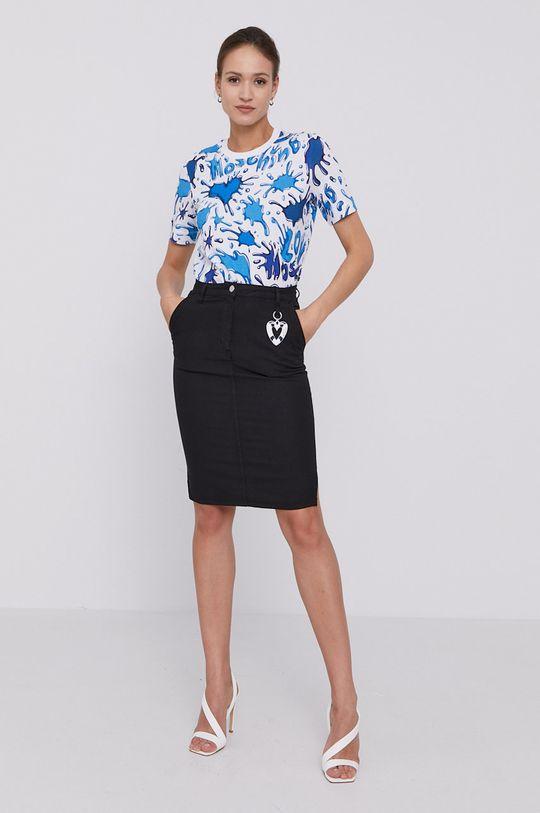 Love Moschino - Spódnica jeansowa czarny