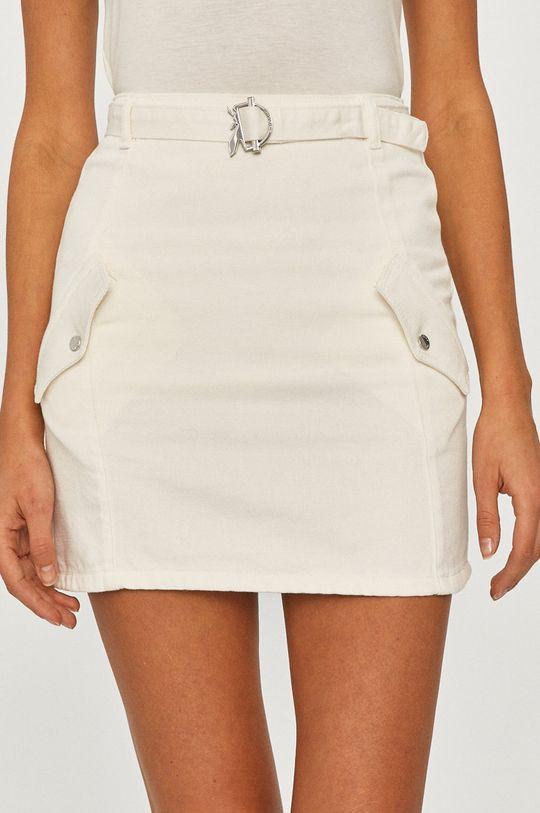 biały Patrizia Pepe - Spódnica jeansowa Damski