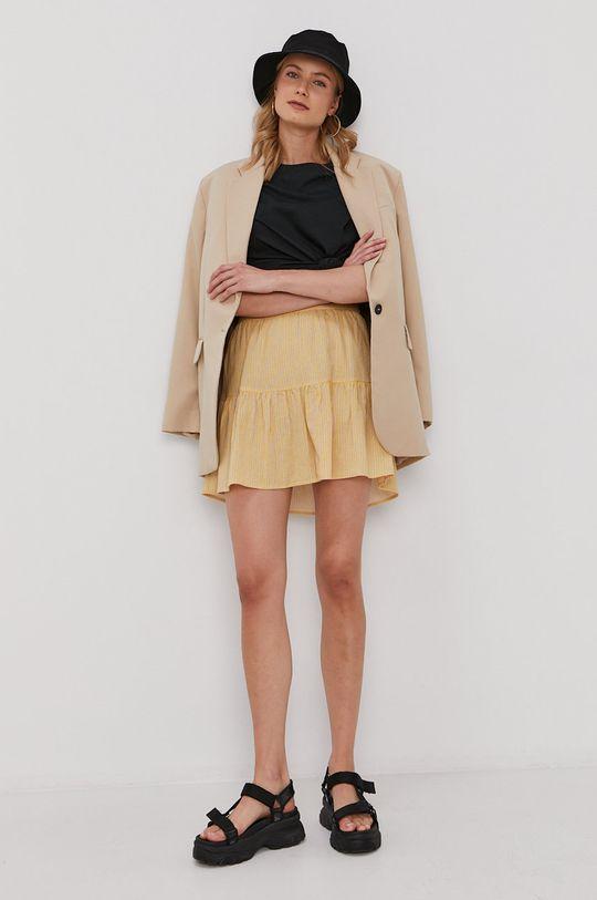 Vero Moda - Spódnica jasny żółty