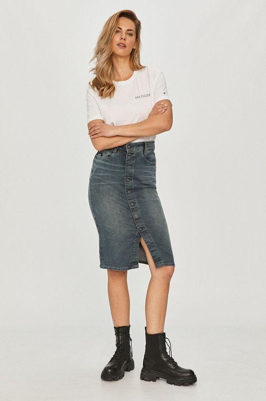 G-Star Raw - Rifľová sukňa sivá