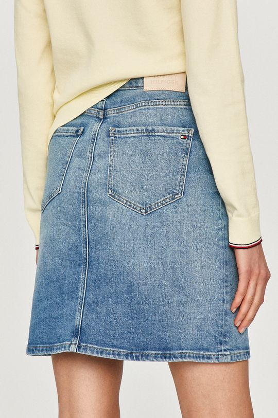 Tommy Hilfiger - Fusta jeans  99% Bumbac, 1% Elastan