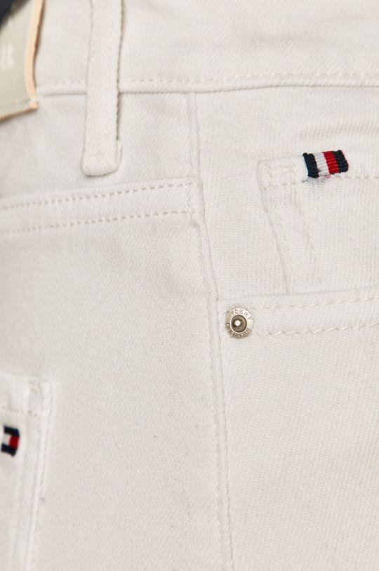 biela Tommy Hilfiger - Rifľová sukňa