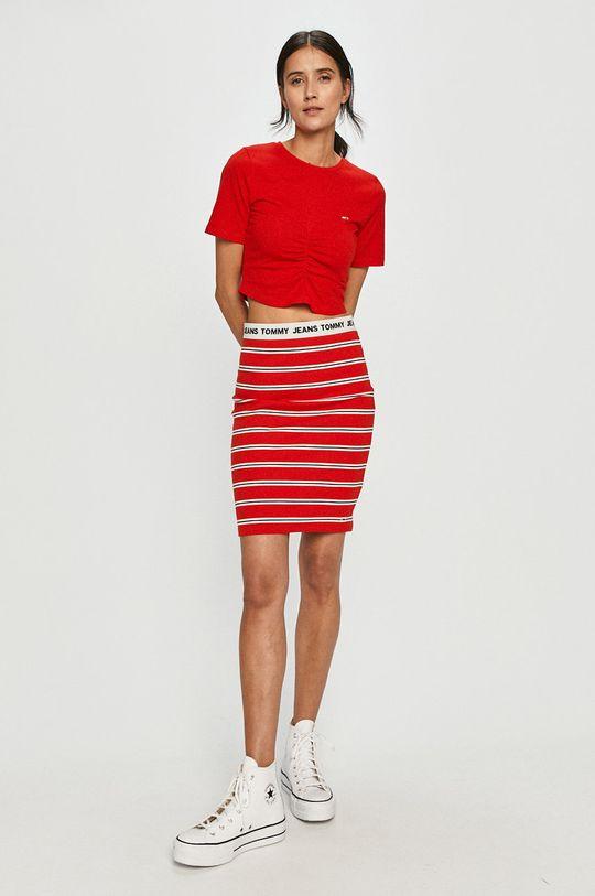 Tommy Jeans - Sukňa červená