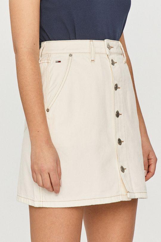 bílá Tommy Jeans - Džínová sukně Dámský