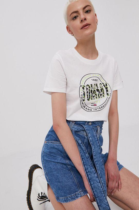 modrá Tommy Jeans - Rifľová sukňa