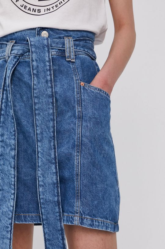 Tommy Jeans - Rifľová sukňa Dámsky