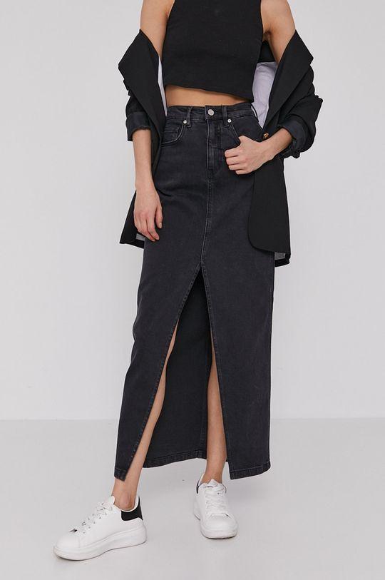 Scotch & Soda - Spódnica jeansowa czarny
