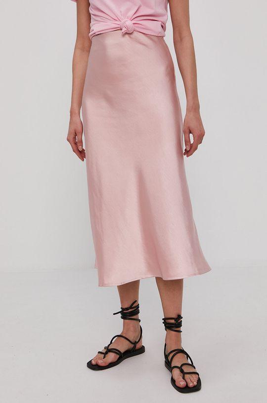 pastelowy różowy Y.A.S - Spódnica Damski