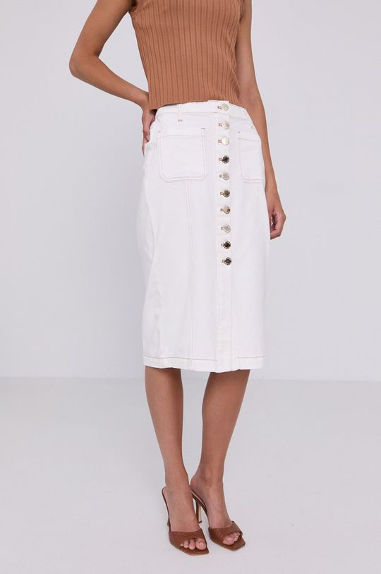 biały Pinko - Spódnica jeansowa Damski