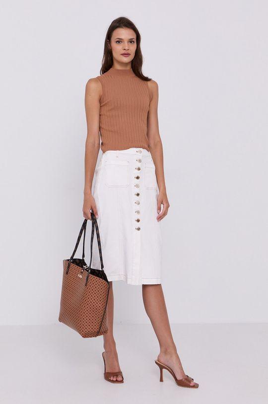 Pinko - Spódnica jeansowa biały
