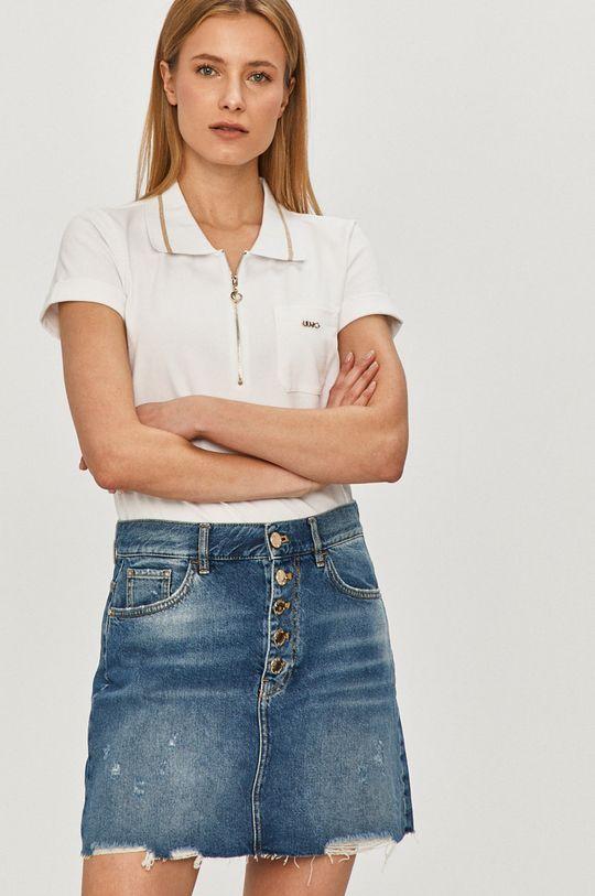 Pinko - Fusta jeans albastru